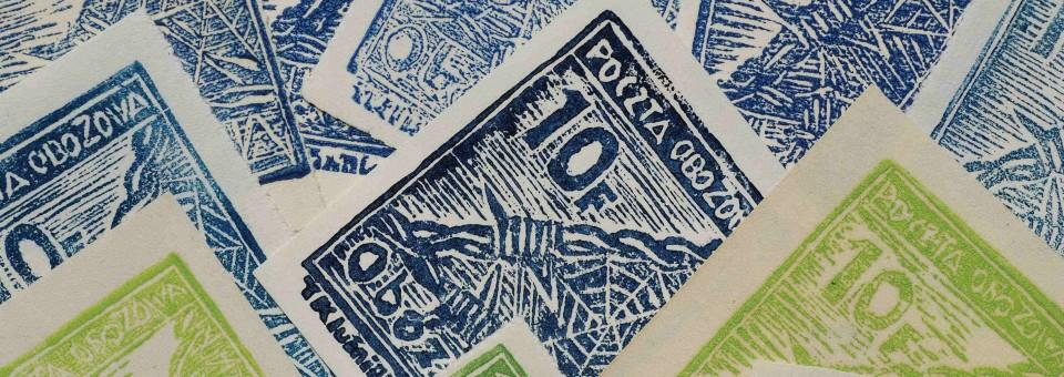 Fałszerstwo znaczka nr 2 i 3 (druty) obóz VII A – Murnau.
