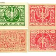 """Fałszerstwa znaczków """"milionowych"""" z 1924 roku."""