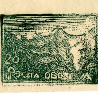 Fałszerstwa znaczka nr.8 (góry) z obozu VII A- Murnau